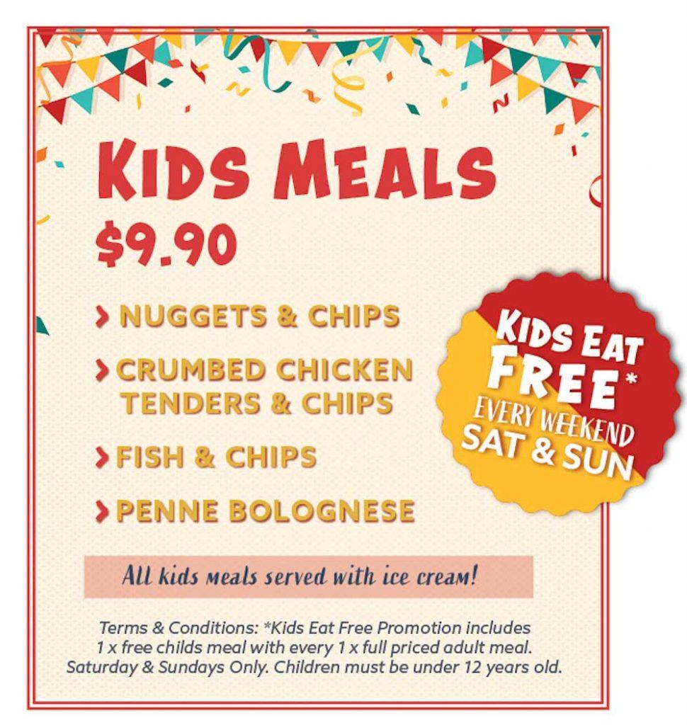 Belmont Hotel Kids Meals